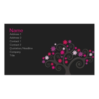 Pink Blooms Profile Card Pack Of Standard Business Cards