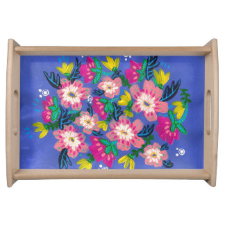 Pink Blooms Small Serving Tray