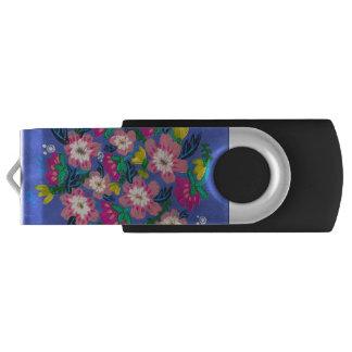 Pink Blooms USB Flashdrive USB Flash Drive