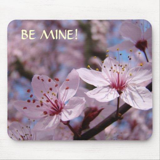 Pink Blossom BE MINE! Mousepad Valentines Present