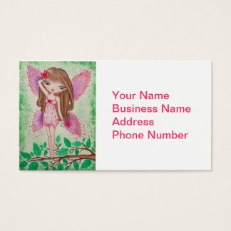 """""""Pink Blossom"""" Fairy Business Card"""