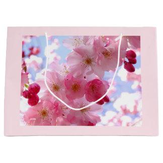 Pink blossom large gift bag