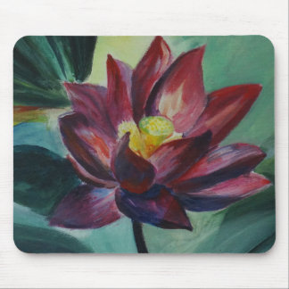 Pink blossom of lotus flower mousepad