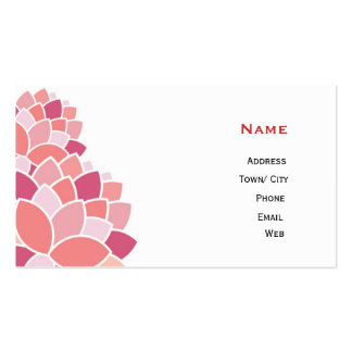 Pink blossom pack of standard business cards