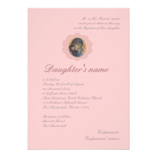 Pink Blossom Personalized Announcements