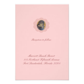 Pink Blossom Reception Personalized Announcements