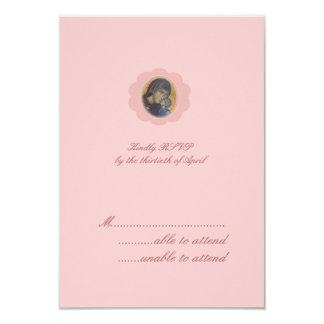 Pink Blossom RSVP 9 Cm X 13 Cm Invitation Card