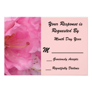 Pink Blossom RSVP Card Announcements