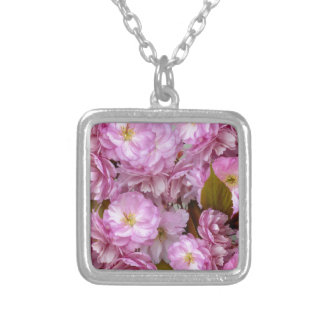 Pink Blossom Silver Plated Necklace