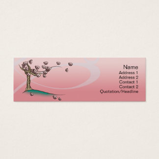 Pink  Blossom - Skinny Mini Business Card