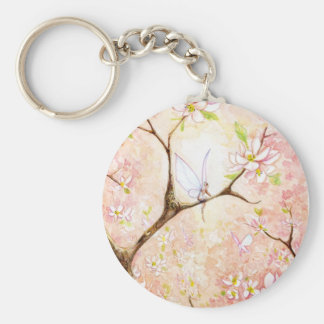"""Pink Blossom View"" Keychain"