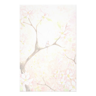 """""""Pink Blossom View"""" Stationery"""