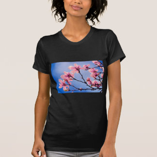 Pink Blossoms Against the Blue Sky Tshirt