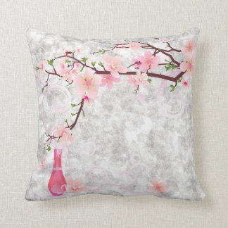 Pink Blossoms and Vase American MoJo Pill Cushions
