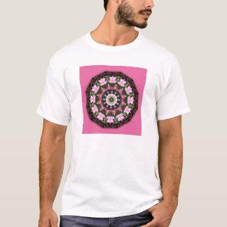 Pink Blossoms, Floral mandala-style T-Shirt