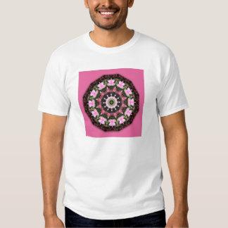 Pink Blossoms, Floral mandala-style T-shirts