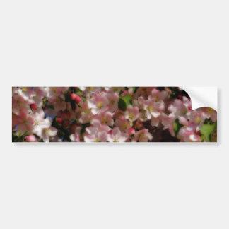 Pink Blossoms Flower Bumper Sticker