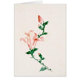 Pink Blossoms, Hokusai Japanese Fine Art Card