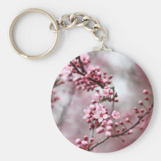 Pink Blossoms in Spring Photo Key Chains
