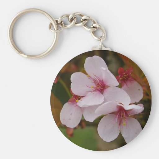 Pink Blossoms Keychain