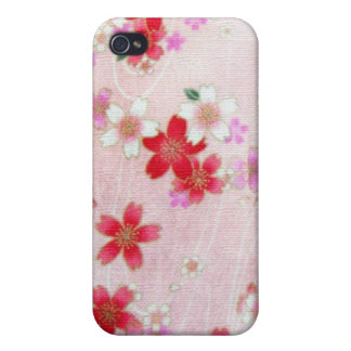 PINK BLOSSOMS KIMONO PRINT COVER FOR iPhone 4