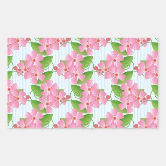 Pink Blossoms Rectangular Sticker