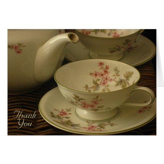 PINK BLOSSOMS TEA SET note card