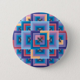 Pink Blue Abstract 6 Cm Round Badge