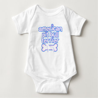 Pink & Blue American Pit Bull Terrier Baby Bodysuit
