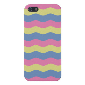 Pink, blue and yellow waves case for the iPhone 5
