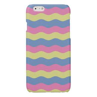 Pink, blue and yellow waves iPhone 6 plus case