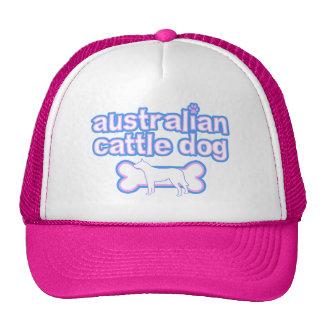 Pink & Blue Australian Cattle Dog Hat
