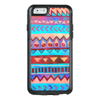 Pink Blue Aztec Tribal Pattern OtterBox iPhone 6/6s Case