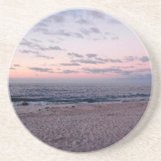 'Pink & Blue Beach at Dawn' Coaster