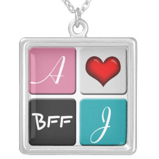 Pink Blue BFF Friendship Necklace