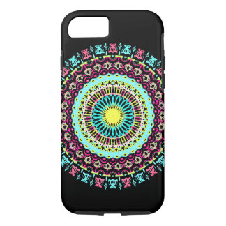 Pink & Blue Big Round Lace Phone Case