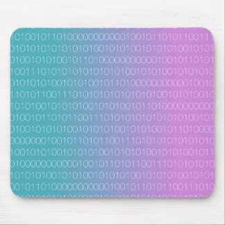 Pink Blue Binary Mouse Pad