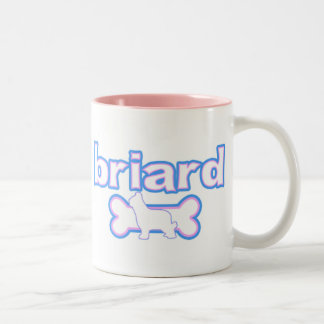 Pink & Blue Briard Two-Tone Coffee Mug