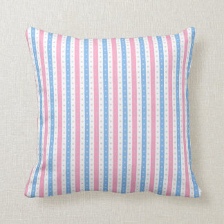 Pink & Blue Candy-Wrap Stripes. Cushion