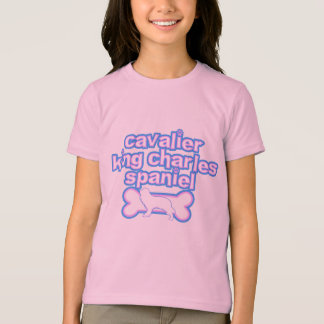 Pink & Blue Cavalier King Charles Spaniel T-Shirt