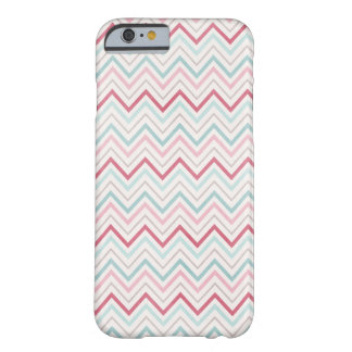 Pink & Blue Chevron Skin Barely There iPhone 6 Case