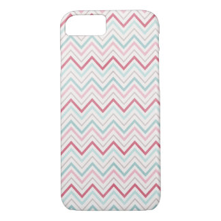 Pink & Blue Chevron Skin iPhone 7 Case