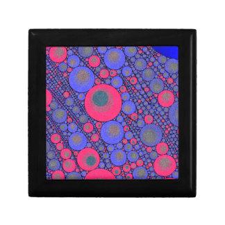 Pink Blue Circle Abstract Small Square Gift Box