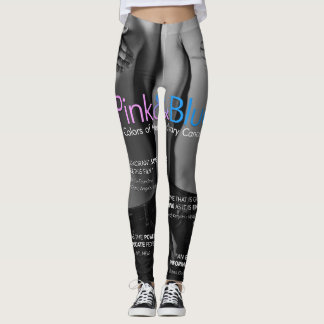 Pink & Blue: Colors of Hereditary Cancer LEGGINGS