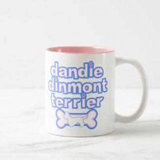 Pink & Blue Dandie Dinmont Terrier Mug