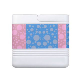 Pink Blue Dots Igloo 12 Can Cooler Igloo Cooler