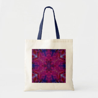 Pink & Blue Feather Kaleido-Tote Tote Bag