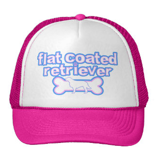 Pink & Blue Flat Coated Retriever Trucker Hat