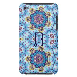 PINK BLUE FRACTAL CIRCLES MONOGRAM iPod Case-Mate CASES