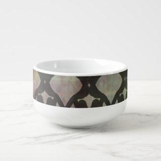 Pink Blue Geo Soup Mug